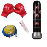 健身儿童充气拳击柱不倒翁充气沙袋沙包泄愤玩具送打气筒胶水