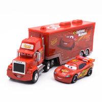 迪士尼汽车赛车总动员3玩具合金车闪电麦坤板牙车王套装 红色 二代麦昆+麦大叔