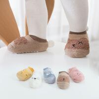 珈楚 春秋宝宝地板袜子防滑婴儿鞋袜套后跟球球可爱儿童船袜学步室内