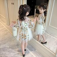女童连衣裙春装新款儿童女宝宝长袖女孩夏季纱裙洋气公主裙子