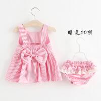 童装女童装套装夏季0一1-2-3岁儿童背心两件套宝宝夏装女婴儿衣服