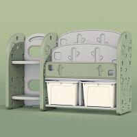 宝宝儿童收纳架神器塑料多层卧室玩具书本衣物整理置物架柜