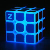 Z版三阶魔方夜光魔方三阶二阶四阶魔方透明专业顺滑益智玩具