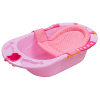 婴儿浴盆宝宝洗澡盆加厚新生儿用品可坐儿童大号澡盆加大可躺洗澡