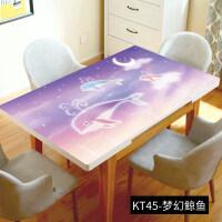 卡通儿童学习书桌写字台电脑网红桌布可爱少女心公主风软妹桌垫
