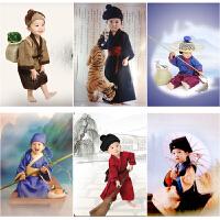 新款男童国学小书童拍照小书生古装儿童汉服幼儿摄影服锄禾