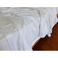 柔滑舒适素色竹纤维毯子毛巾被纯色儿童盖毯夏
