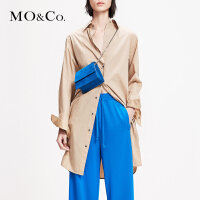 MOCO2019春季新品腰带一件式衬衫式连衣裙MAI1DRS047 摩安珂