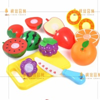 儿童仿真水果蔬菜切切乐切水果玩具过家家厨房玩具套装切切看