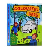 Magic Colour Book Colourful Cars 多彩汽车 变色抽拉书 儿童颜色认知英语版 英文原版图