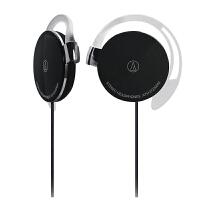铁三角(Audio-Technica)ATH-EQ300M 轻薄耳挂式运动跑步耳机 黑色