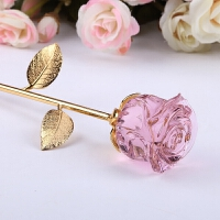情人节礼物送女友老婆生日女生情侣浪漫实用diy 水晶玫瑰花创意礼品定制
