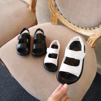 2018夏季新款儿童凉鞋韩版真皮男童女童鞋子简约百搭1-3岁2宝宝鞋