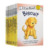 送音频 Biscuit 小饼干狗20册全套 英文原版绘本 汪培�E书单I Can Read My first第一阶段初级初