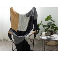 家纺2017秋冬季新款床上用品北欧复古拼接沙发毯缝补款休闲家用盖毯棉被子 130cmx170cm