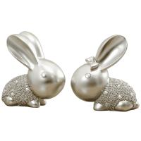情侣兔子摆件家居饰品创意客厅摆设结婚生日礼物新房乔迁