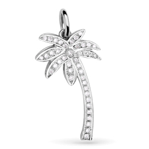 先恩尼 钻石 白18k金约20分群镶吊坠 钻石吊坠/项坠 椰树XDZ0054