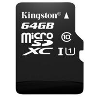 金士顿(Kingston)读速40m 64GB Class10 TF(Micro SD)存储卡40MB/s
