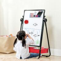 儿童画画板画架可升降双面磁性支架式小黑板家用写字学习3岁2白板
