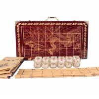 中国象棋套装大号 甲骨文水晶象棋棋盘折叠 高档创意商务礼品