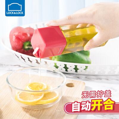 乐扣乐扣玻璃油壶防漏自动开合调料瓶酱油瓶醋壶韩国家用厨房用具厨房用品 耐热玻璃材质 自动开合 不挂油不漏油