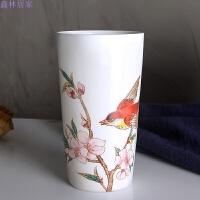 牙缸杯浴室用品创意陶瓷牙刷杯卫生间韩国洗漱杯套装欧式刷牙杯 高杯G展翅 粉色