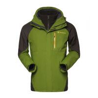 探路者TOREAD男款秋冬三合一两件套防水透湿保暖T套绒冲锋衣TAWC91874
