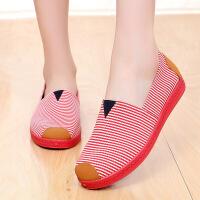 春夏透气懒人鞋女式帆布鞋女单鞋低帮平底休闲老北京布鞋女软底鞋
