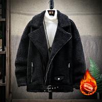 男冬装2019新款棉衣冬季羊羔绒棉服加绒加厚袄子冬天棉袄男士外套
