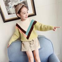 女童毛衣儿童新款针织打底衫女孩秋冬套头