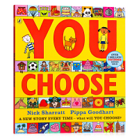 【满300-100】超凡想象益智大书 You Choose 英文原版绘本 想象力培养 名家Nick Sharratt 平
