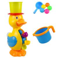 宝宝洗澡玩具套装大黄鸭子水车转转乐儿童戏水玩具水车女孩男孩