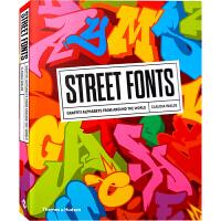 【英文版】Street Fonts街头涂鸦艺术字体 英文创意字体 艺术与设计书籍