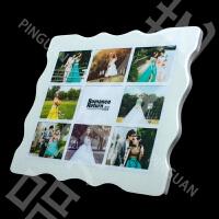 九宫格水晶相框摆台定制挂墙个性洗加创意小清新宝宝照片韩版制作