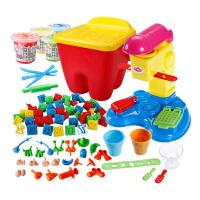 手工泥解压泥冰淇淋玩具像皮泥儿童3d彩泥橡皮泥模具工具套装