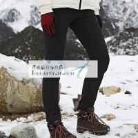 新款户外冲锋裤男软壳裤女冬季防风防水保暖抓绒登山滑雪裤