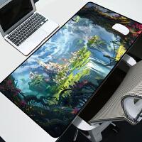 超大游戏鼠标垫定制动漫卡通可爱超大号加厚锁边 电脑办公桌垫