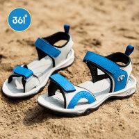 361度童鞋 男童凉鞋 2021年夏季男童沙滩鞋中大童小男孩运动凉鞋K74340211