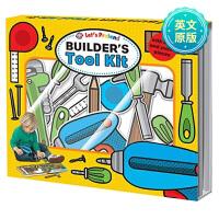 Builder's Tool Kit一起模拟建筑工具套装 英文儿童游戏读物 纸板书