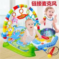 新生儿脚踏钢琴婴儿健身架器带音乐宝宝早教玩具0-1岁投影可遥控
