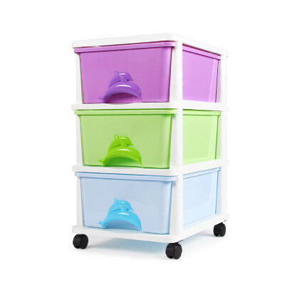 Yeya也雅PP树脂收纳柜 塑料储物柜抽屉式收纳箱儿童玩具衣柜