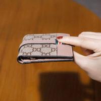 2019韩国新款超薄小钱包女短款折叠钱夹两折简约时尚皮夹卡包ins