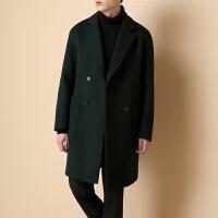 毛呢大衣男中长款青年韩版妮子大衣男士风衣毛呢子外套宽松大衣潮
