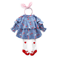 儿童衬衫女春秋女宝宝公主上衣纯棉童装荷叶边长袖衬衣女童春装潮
