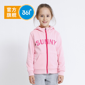 361° 361度童装 女童外套连帽针织加厚外套秋季儿童外套K61813415
