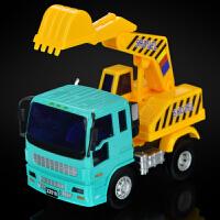 小型惯性挖掘机工程车模型挖土机儿童卡车铲土车沙地玩具礼物