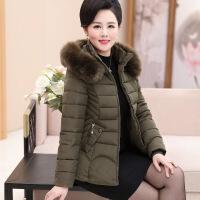 2018秋季新款冬装中老年女装棉衣短款小棉袄中年妈妈装加厚羽绒外套上衣潮
