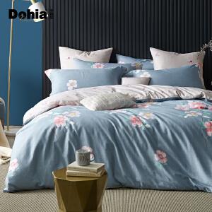 多喜爱新品全棉四件套田园风床上用品纯棉双人床单套件醉梦繁花