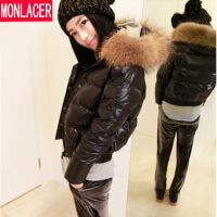 小款羽绒服女短款大毛领秋冬装新款韩版保暖甜美百搭夹克外套
