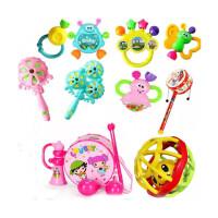婴儿玩具 3-6-12个月新生儿摇铃0-1岁宝宝 婴幼儿手摇铃 6件粉色鼓+7件摇铃+球+波浪鼓
